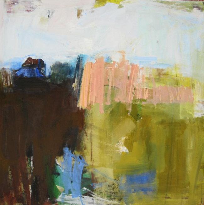 Blue Wheat – 40x40 – acrylic on canvas
