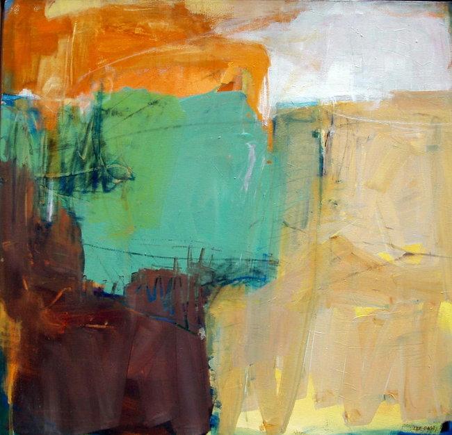 Open Fields – 38x40 – acrylic on canvas